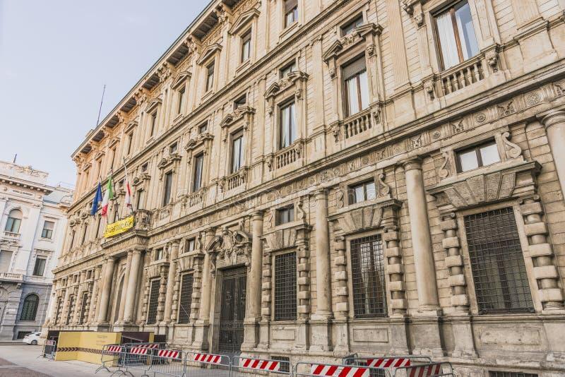 Viejo detalle del edificio, Milán imagen de archivo libre de regalías