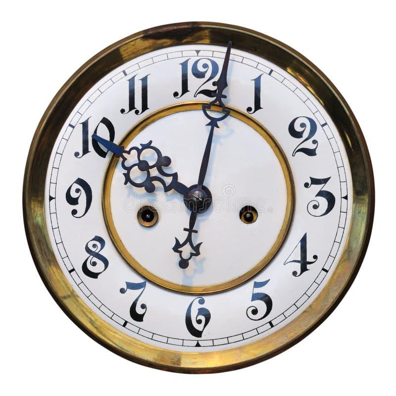 Viejo detalle del reloj fotos de archivo libres de regalías