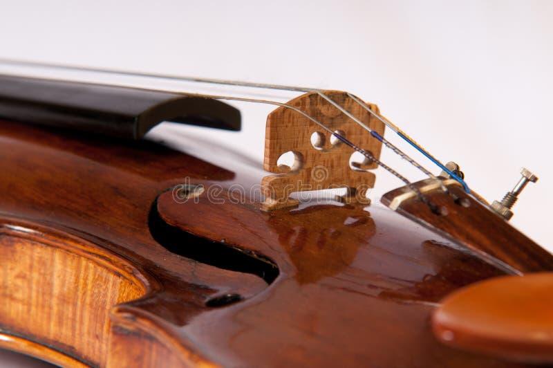 Viejo detalle del violín fotos de archivo