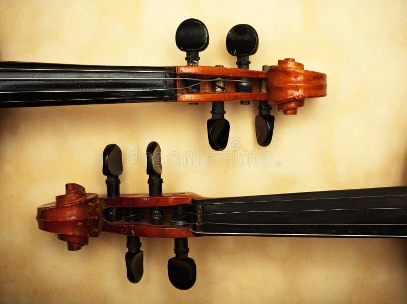 Viejo detalle del violín fotografía de archivo libre de regalías