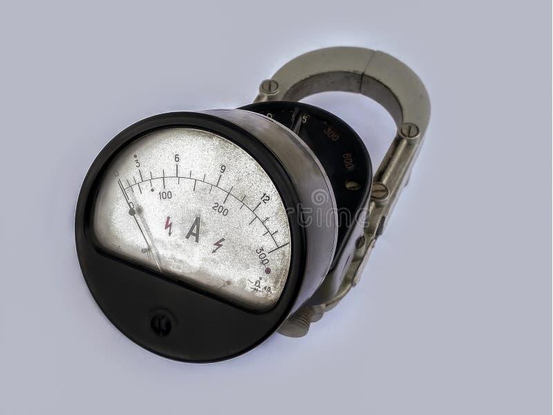 Viejo dispositivo, tiempos del soviet del amperímetro fotos de archivo
