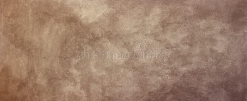 Viejo ejemplo de papel marrón del fondo del pergamino con sepia y el diseño gastado blanco de la textura del grunge stock de ilustración