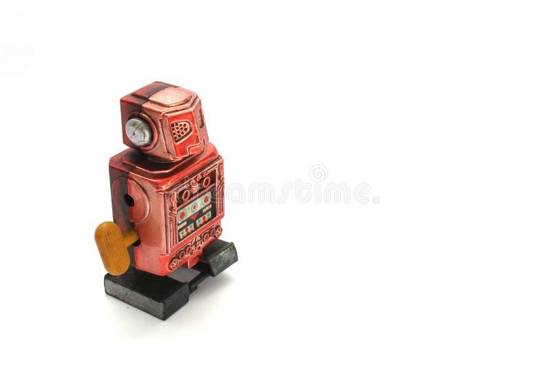 Viejo enrolle para arriba el robot imágenes de archivo libres de regalías