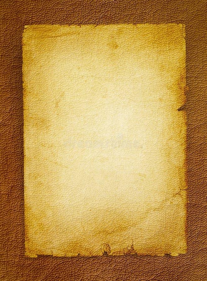 Viejo espacio en blanco del pergamino imagen de archivo libre de regalías