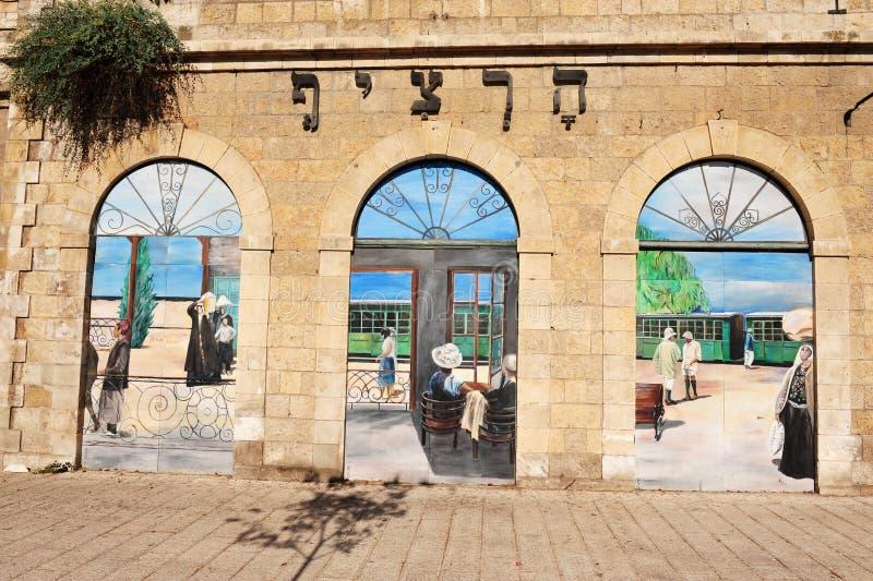 Viejo ferrocarril de Jerusalén fotos de archivo