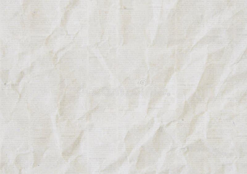 Viejo fondo arrugado de la textura del periódico fotografía de archivo libre de regalías