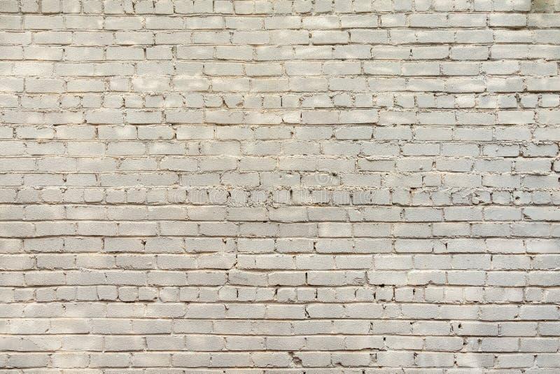 Viejo fondo blanco de la pared de ladrillo imagen de archivo libre de regalías