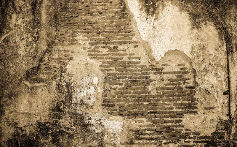 Viejo fondo concreto agrietado de la pared de ladrillo del vintage foto de archivo libre de regalías