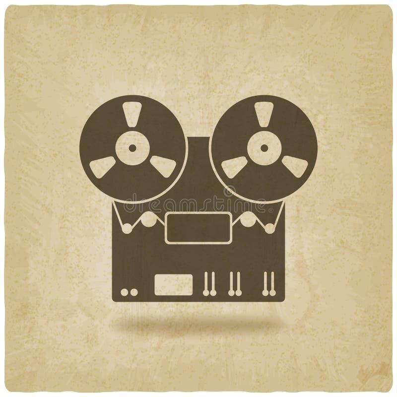 Viejo fondo de la grabadora libre illustration