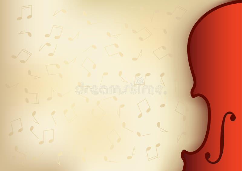 Viejo fondo de la música stock de ilustración