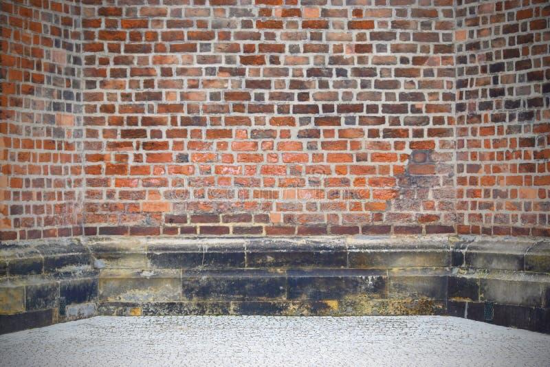 Viejo fondo de la pared de ladrillo del vintage imagenes de archivo