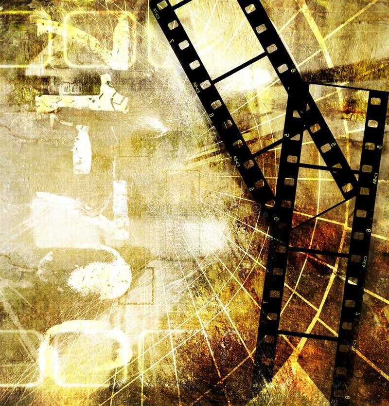 Viejo fondo de la película libre illustration