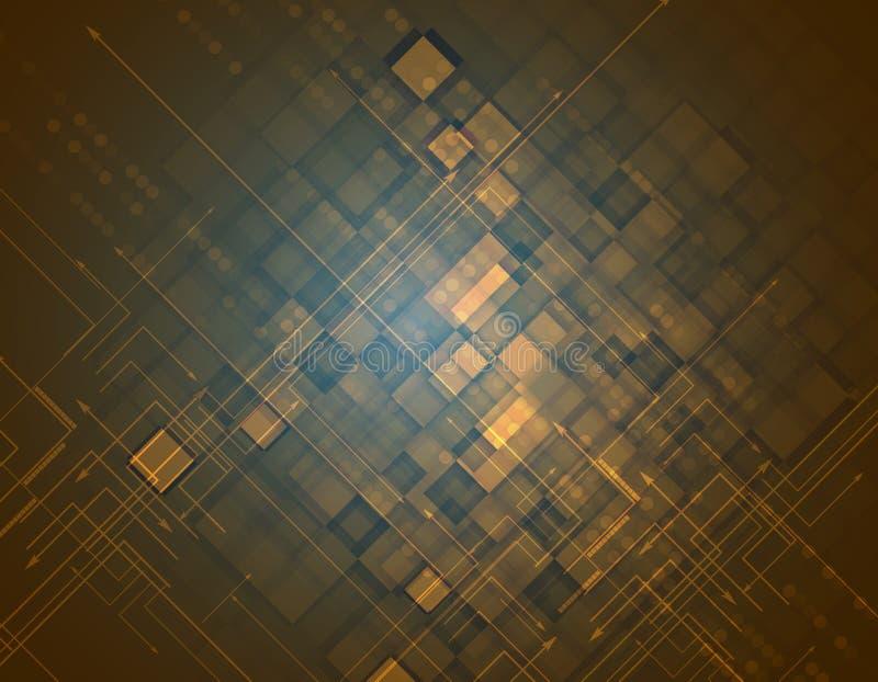 Viejo fondo de la tecnología del Grunge S futurista apocalíptico retro ilustración del vector