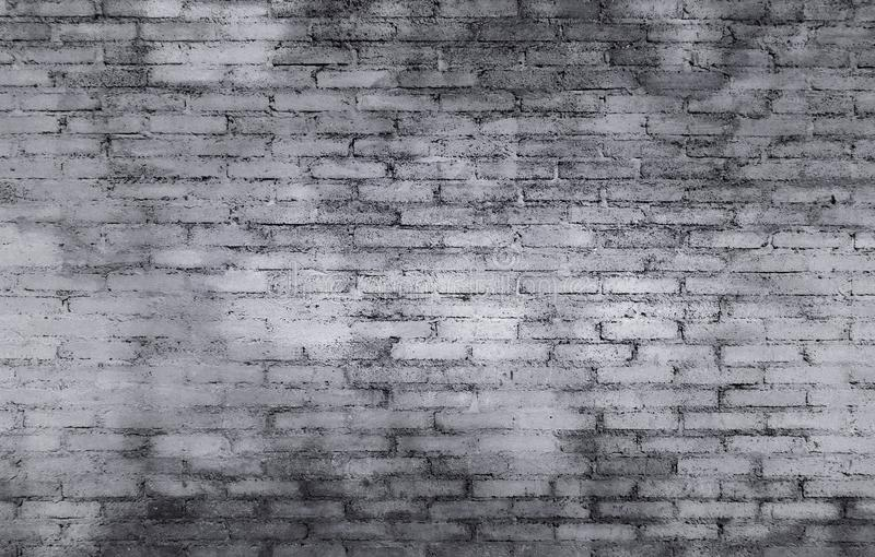 Viejo fondo de la textura de la pared de ladrillo con color gris y blanco en t fotos de archivo