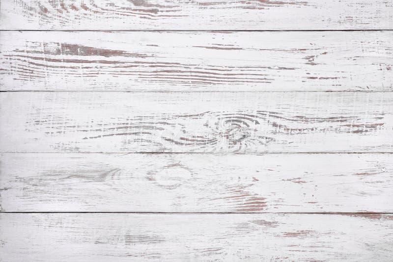 Viejo fondo de madera blanco, superficie de madera rústica con el espacio de la copia fotos de archivo