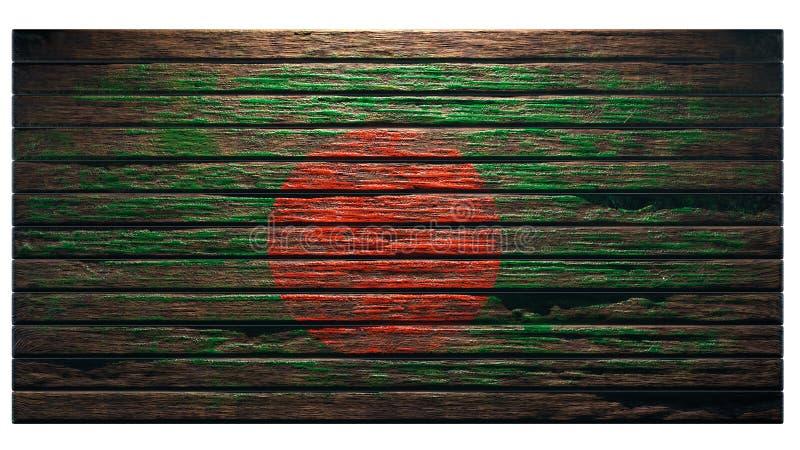 Viejo fondo de madera de la textura libre illustration
