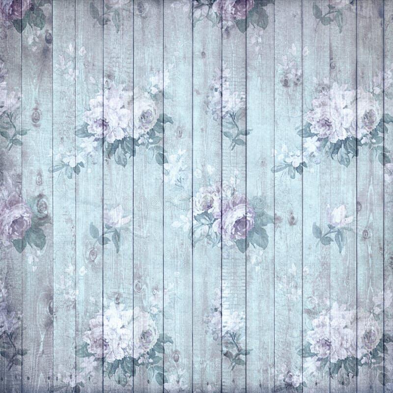 Viejo fondo de madera lamentable de la flor libre illustration