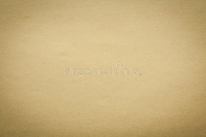 Viejo fondo de papel amarillo de la textura imagen de archivo libre de regalías