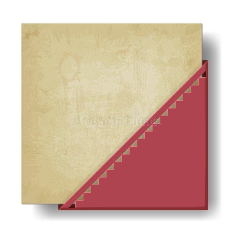 Viejo fondo de papel con la esquina roja libre illustration