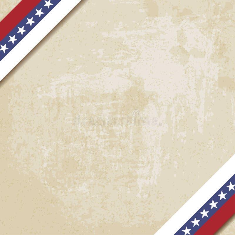 Viejo fondo de papel con las cintas rayadas stock de ilustración