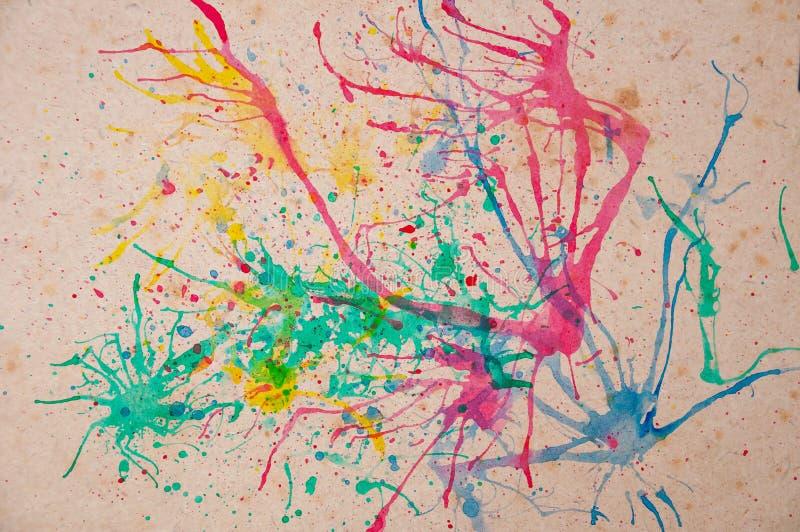 Viejo fondo de papel con multicolor stock de ilustración