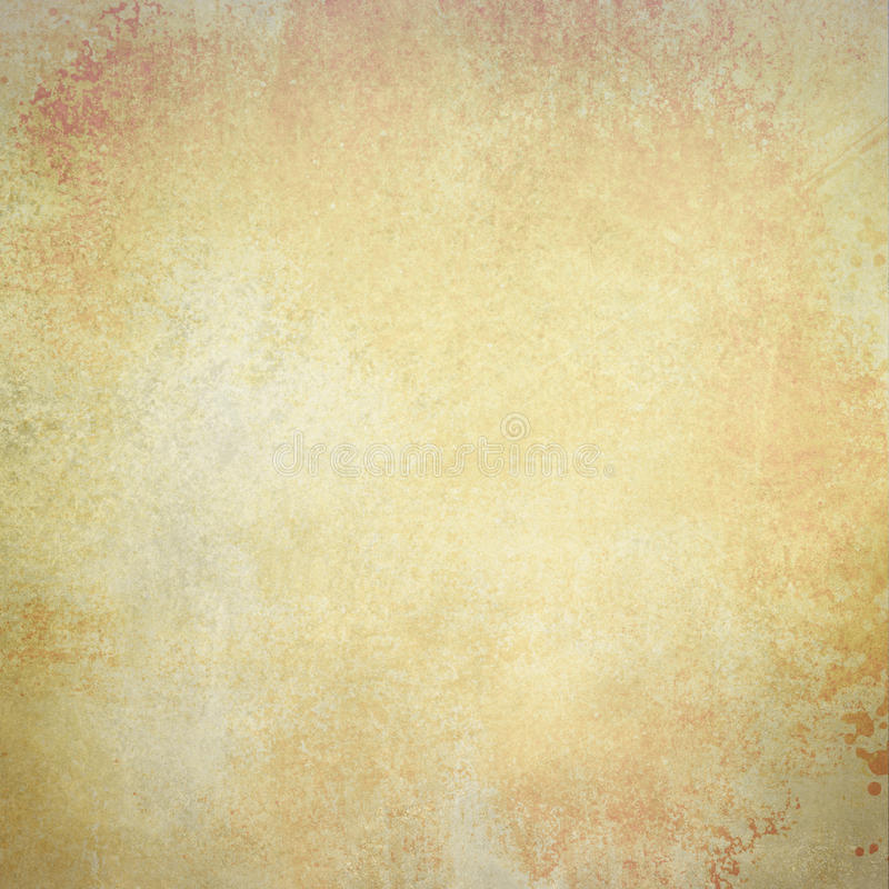 Viejo fondo de papel en oro descolorado del marrón del metal y colores blancos con textura del vintage foto de archivo libre de regalías