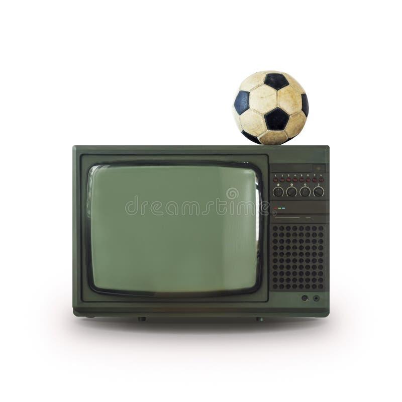 Viejo fondo del blanco de la bola de la TV fotografía de archivo libre de regalías