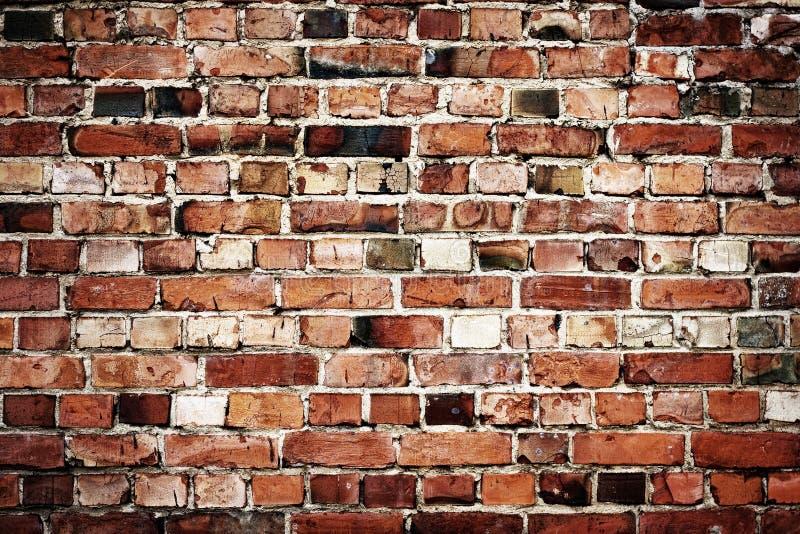 Viejo fondo del brickwall imagenes de archivo