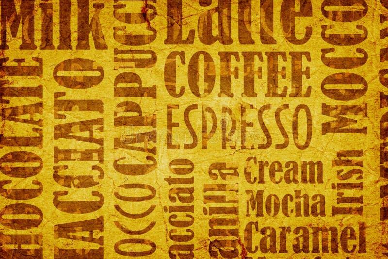 Viejo fondo del café ilustración del vector