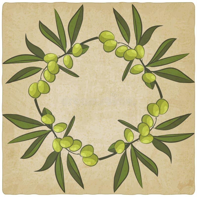 Viejo fondo del eco verde oliva stock de ilustración