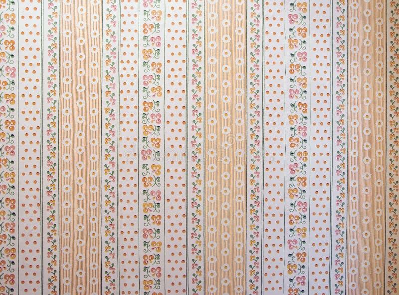 Viejo fondo del ornamental del papel pintado foto de archivo libre de regalías