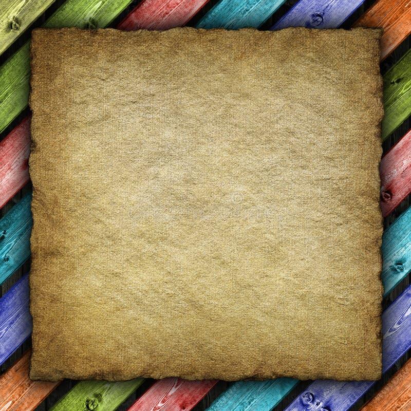 Viejo fondo del papel hecho a mano stock de ilustración