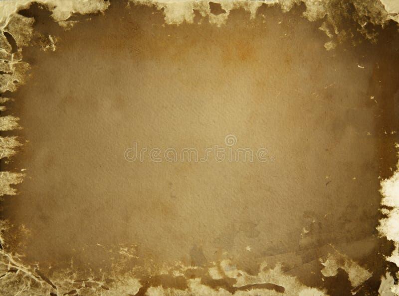 Viejo fondo del papel marrón stock de ilustración