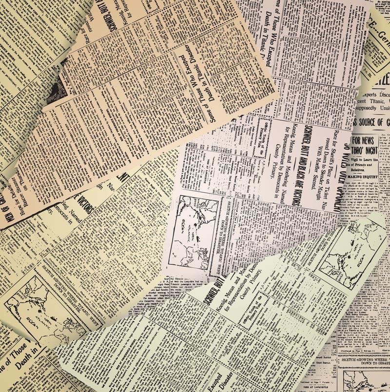 Viejo fondo del periódico ilustración del vector