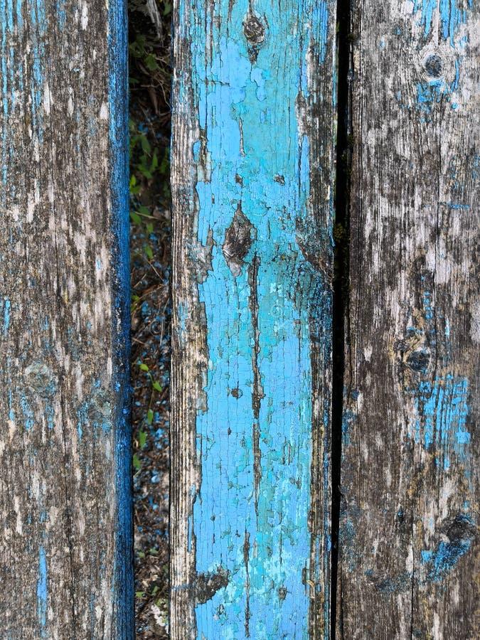Viejo fondo del vintage del grunge: superficie de madera del color con formar escamas azul gris de la pintura imagenes de archivo