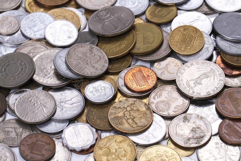 viejo fondo europeo del dinero de las monedas foto de archivo libre de regalías