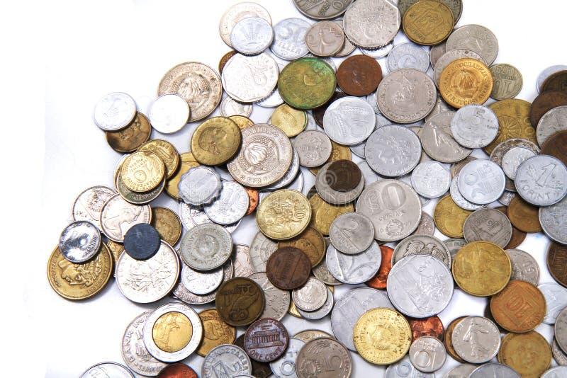 viejo fondo europeo del dinero de las monedas fotografía de archivo