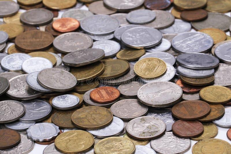 viejo fondo europeo del dinero de las monedas imagen de archivo