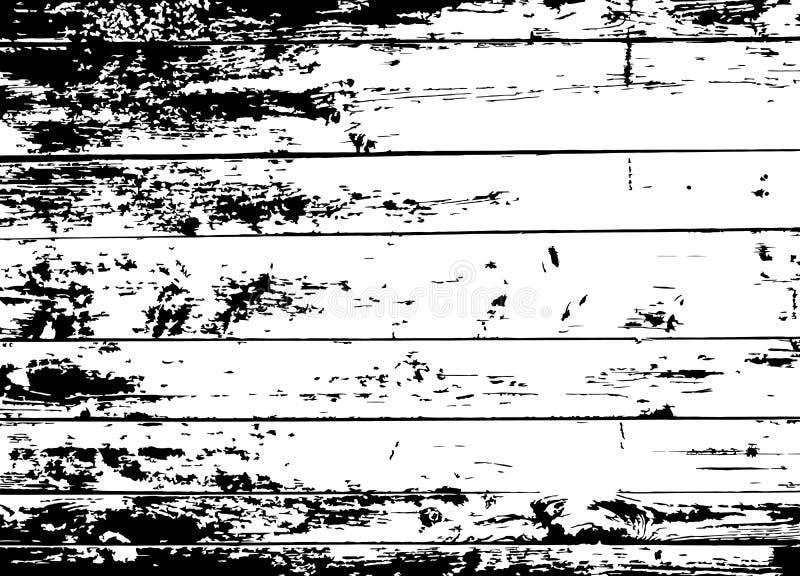 Viejo fondo negro de madera del Grunge Textura apenada tablones de madera de la capa Tablero envejecido Vector Eps10 stock de ilustración