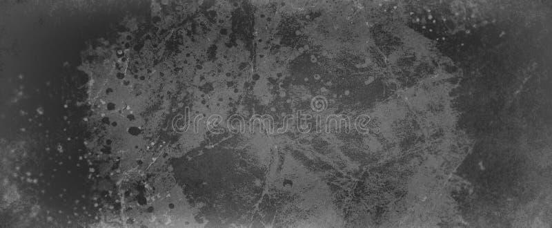 Viejo fondo negro y gris sucio con la roca acodada del grunge del vintage o piedra veteada en la peladura de la pintura con desce fotografía de archivo