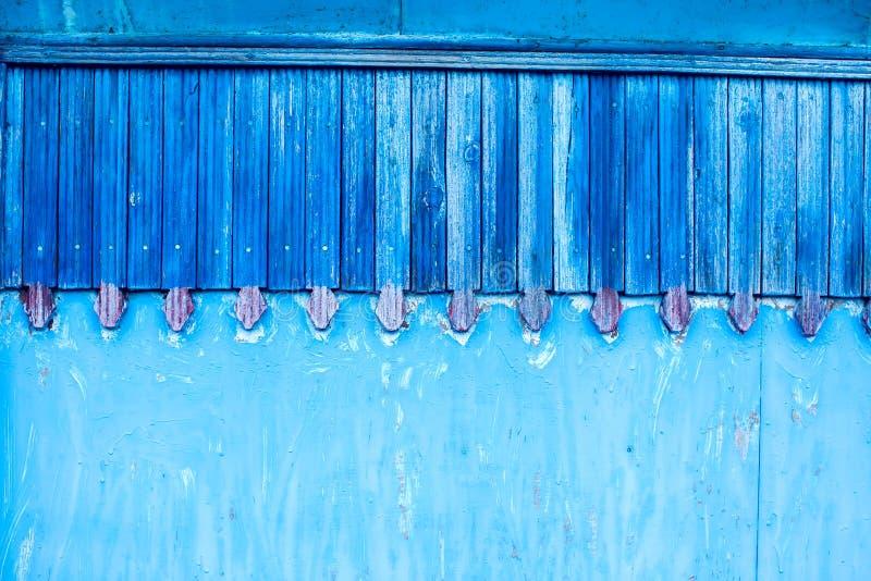 Viejo fondo o textura de madera azul de la pared fotografía de archivo libre de regalías