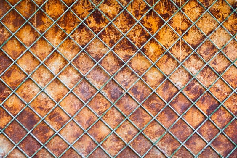 Viejo fondo oxidado de la cerca fotografía de archivo libre de regalías