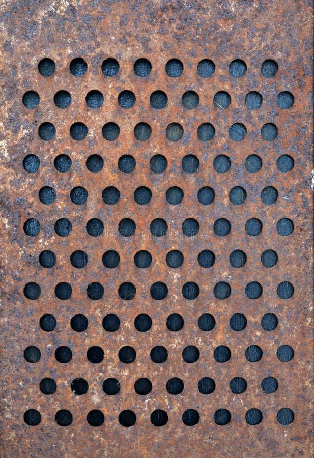 Viejo fondo oxidado del rallador del metal fotos de archivo
