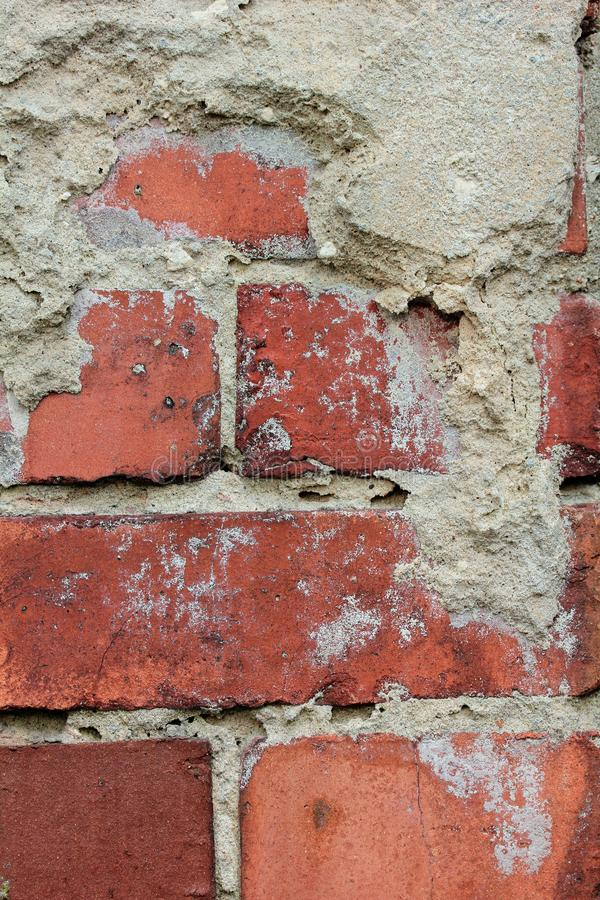 Viejo fondo rojo de la pared de ladrillo foto de archivo libre de regalías