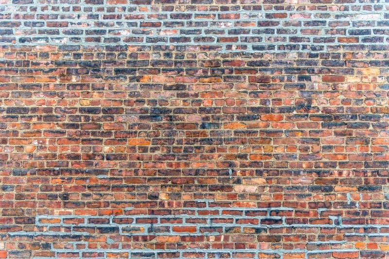 Viejo fondo rojo del grunge de la textura de la pared de ladrillo fotos de archivo