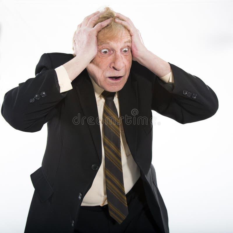 Hombre de negocios subrayado imagen de archivo