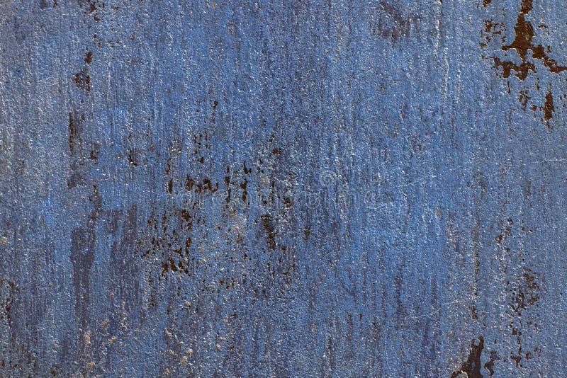 Viejo fondo veneciano azul de la pared del yeso del cemento Cierre para arriba fotos de archivo