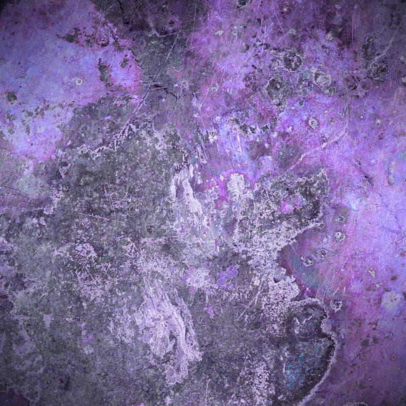 Viejo fondo violeta de la placa de metal del moho foto de archivo