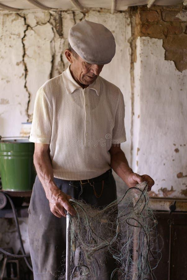 Viejo granjero imagenes de archivo