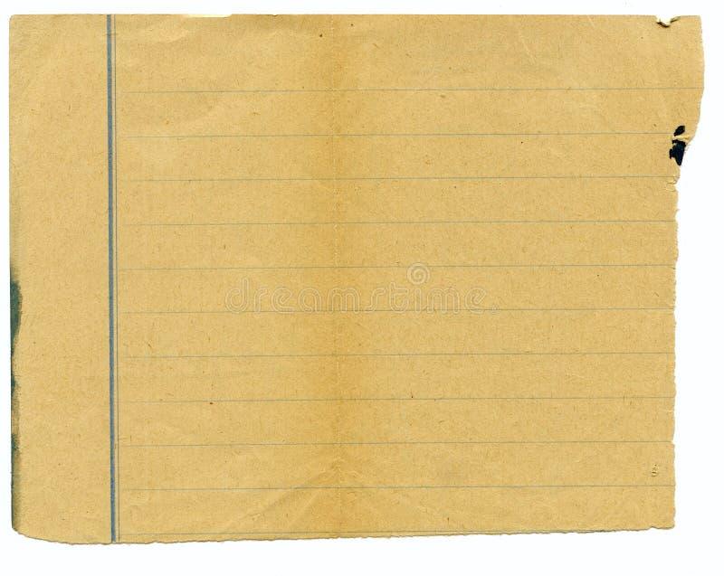 Viejo grunge, papel manchado foto de archivo libre de regalías